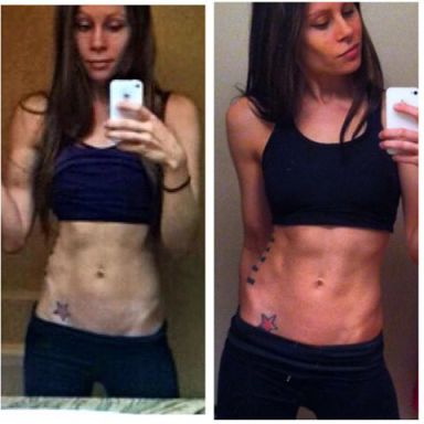 Four week transformation. abs, chicks with abs, vegan chick, vegan bodybuilding, how to get abs, ab workouts for women