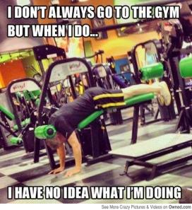Gym meme, Gym Beginner, No idea What I'm doing meme